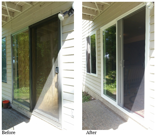 Before and after of replacing windows