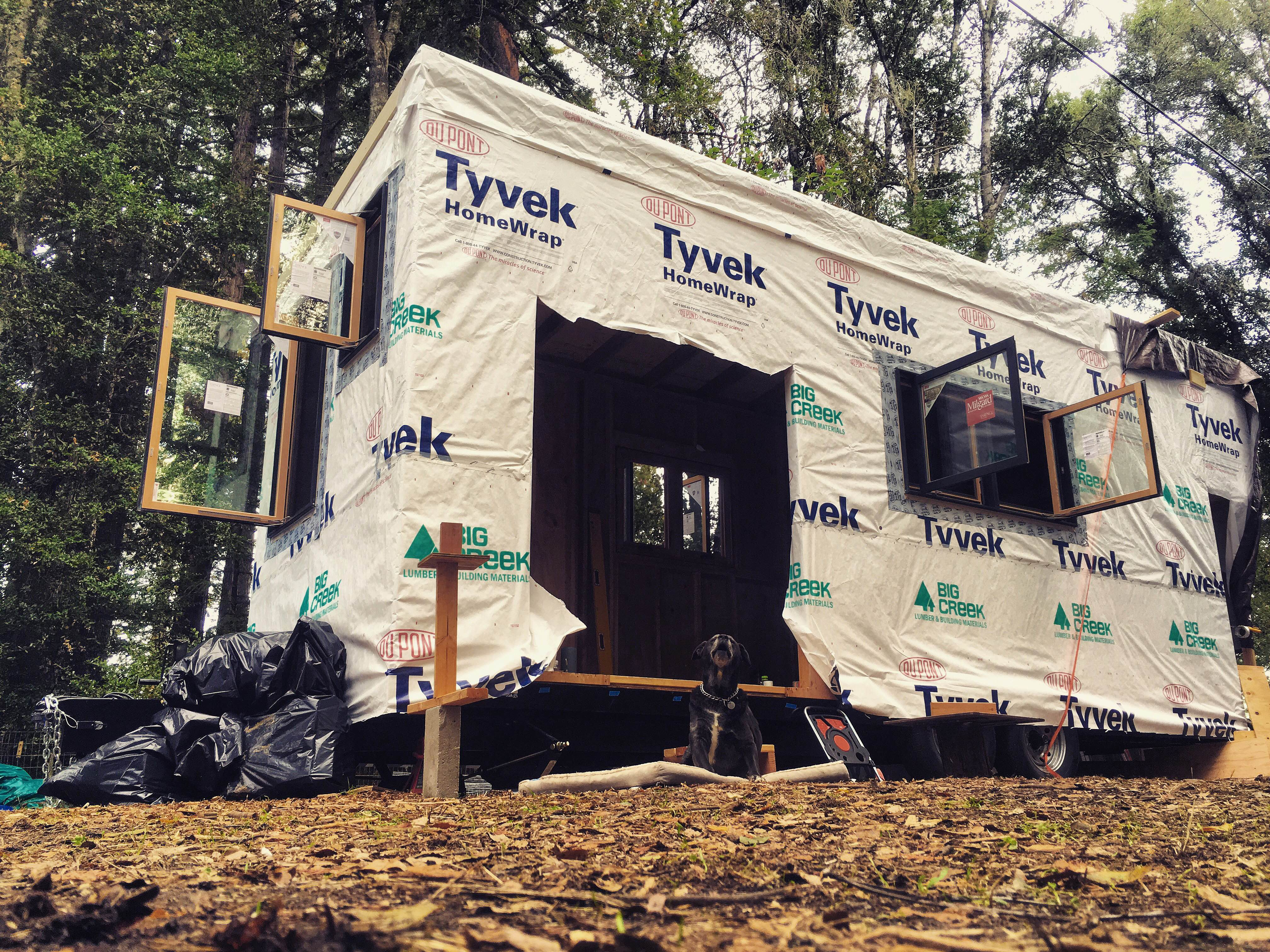 construction of a tiny home