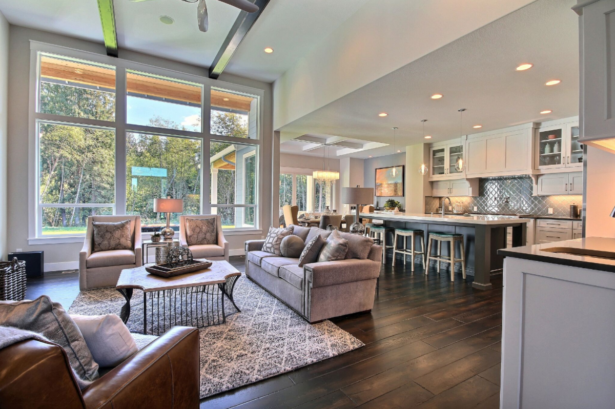 open concept floor plan