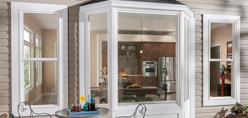 Tuscany Series vinyl bay window