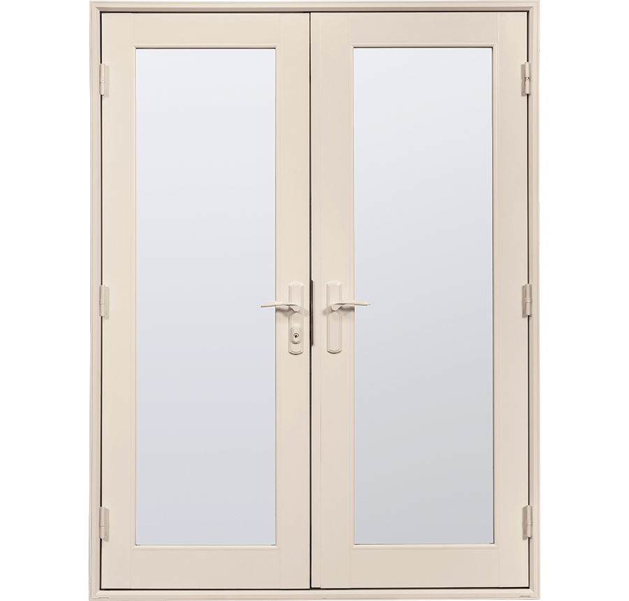 High end vinyl out swing french patio doors tuscany for High end french doors