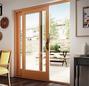 Essence Series wood french-style sliding patio door