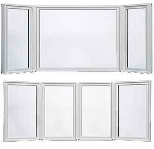 Ultra Series Fiberglass Bay and Bow windows