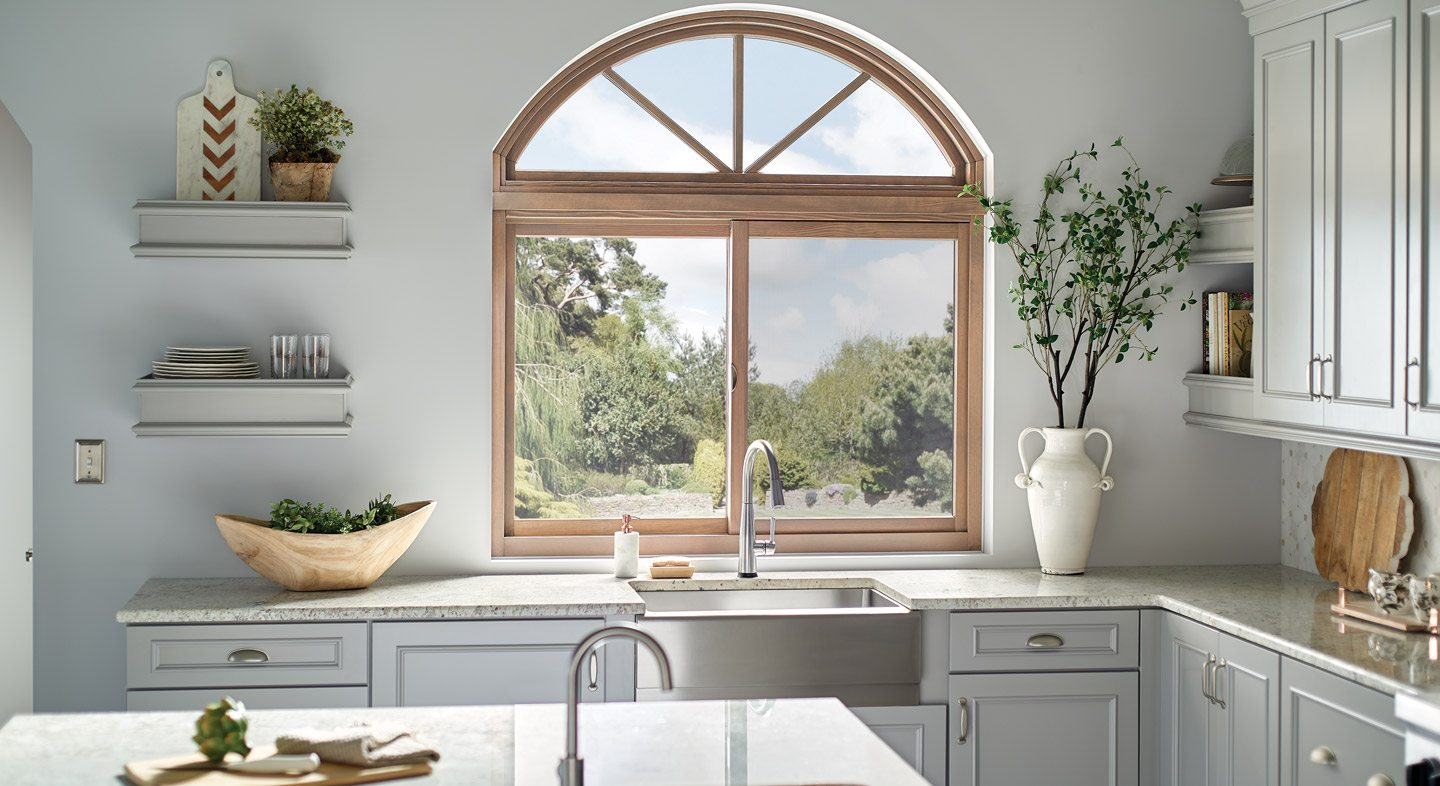 Essence Series radius over horizontal slider window interior