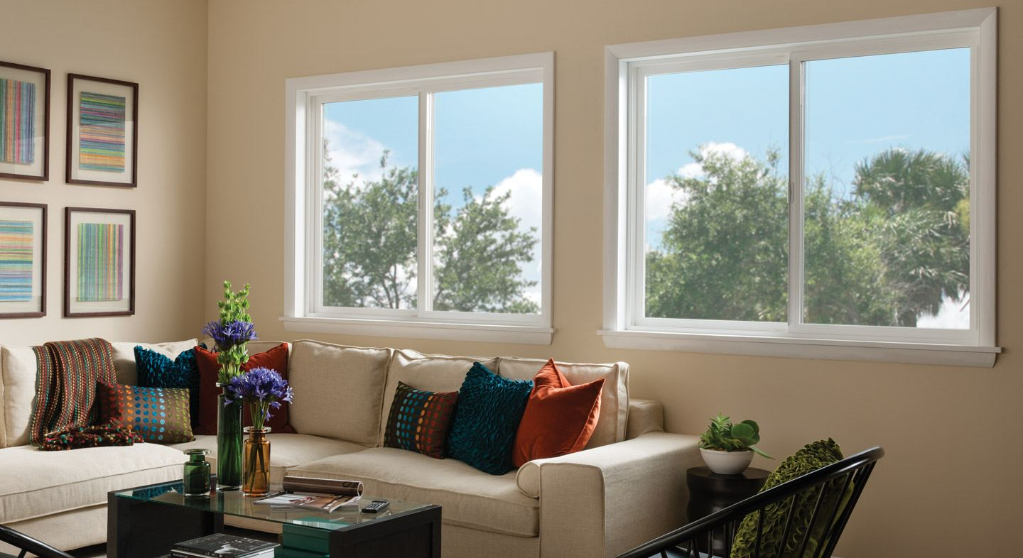 Montecito Series vinyl horizontal slider windows