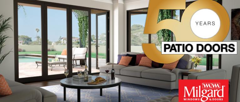 Were excited to announce our 50th year of manufacturing quality patio doors with a long history and commitment to innovation were proud to have reached
