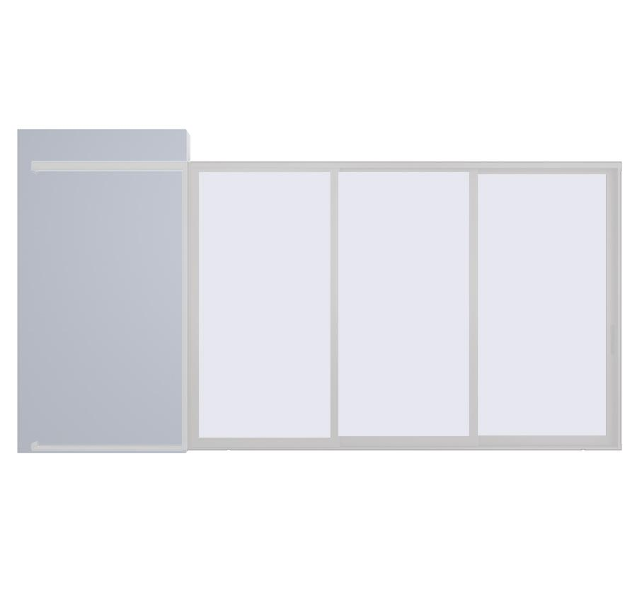 AX550 Pocket Glass Walls in Clear Anodized