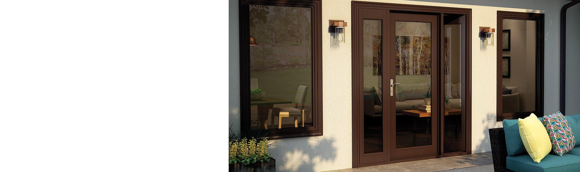 Tuscany Series vinyl In-Swing French patio door