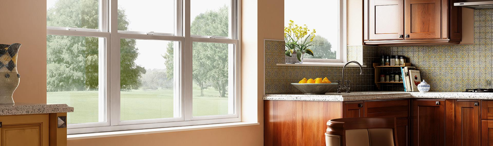 Hermosa Series vinyl single hung tilt windows