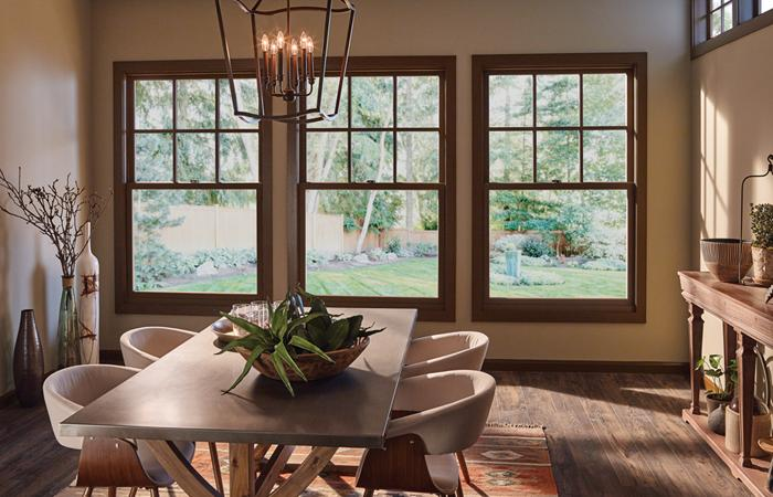 Essence Series double hung wood windows interior
