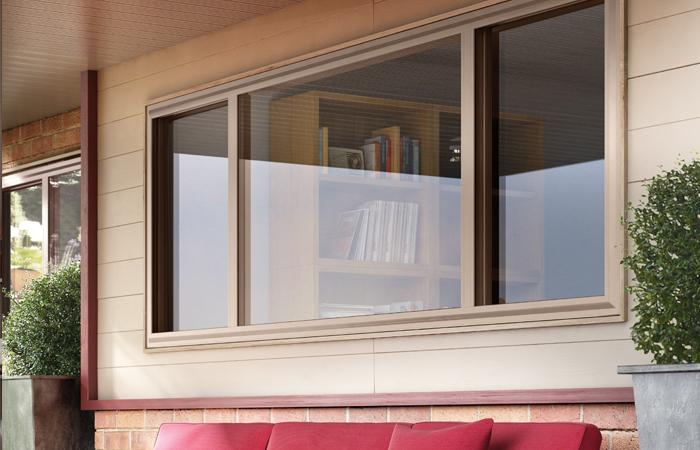 Hermosa Series vinyl double horizontal slider window