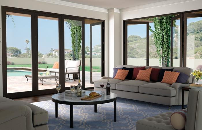 Moving Glass Wall Systems 4-panel bi-fold door