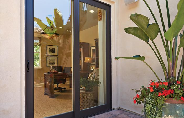 Montecito Series sliding patio door in Classic Brown