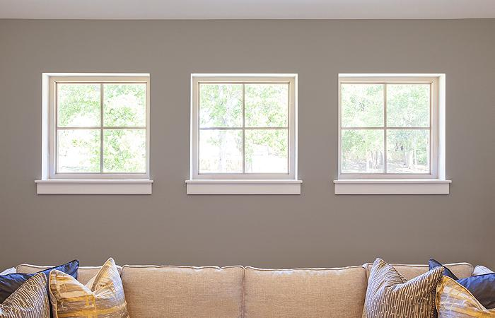 Tuscany Series vinyl picture windows with colonial grids