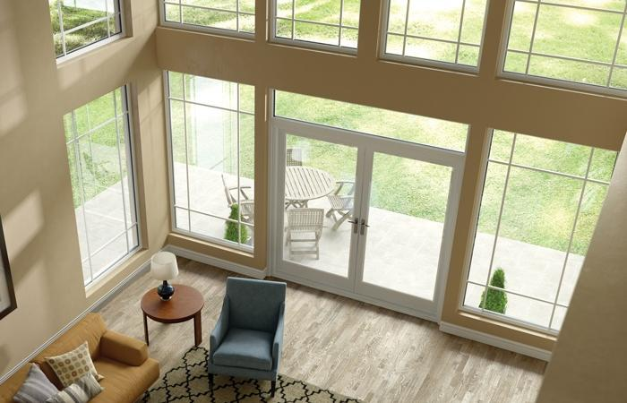 Ultra Series fiberglass picture windows and out-swing patio door