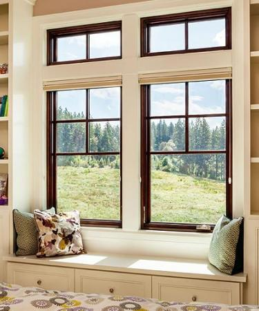Essence Series wood picture over casement windows