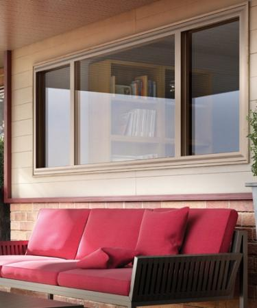 Hermosa Series double horizontal slider window in Clay