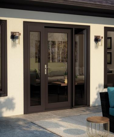 Tuscany Series in-swing patio door in bronze