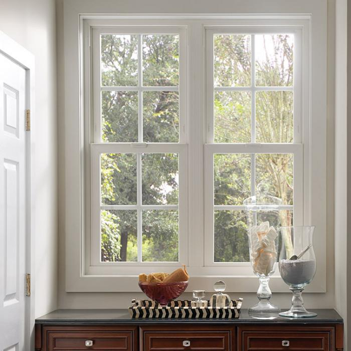 Tuscany Series vinyl single hung windows