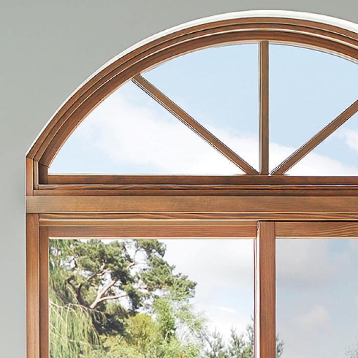 Essence Series windows with wood interior and fiberglass exterior