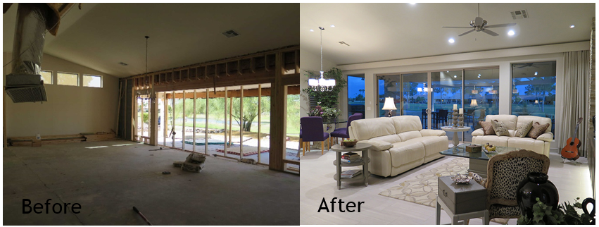 Before and after photos: traditional to modern home remodel