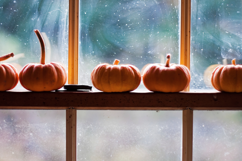 Use the Window Rail to add Tiny Pumpkins