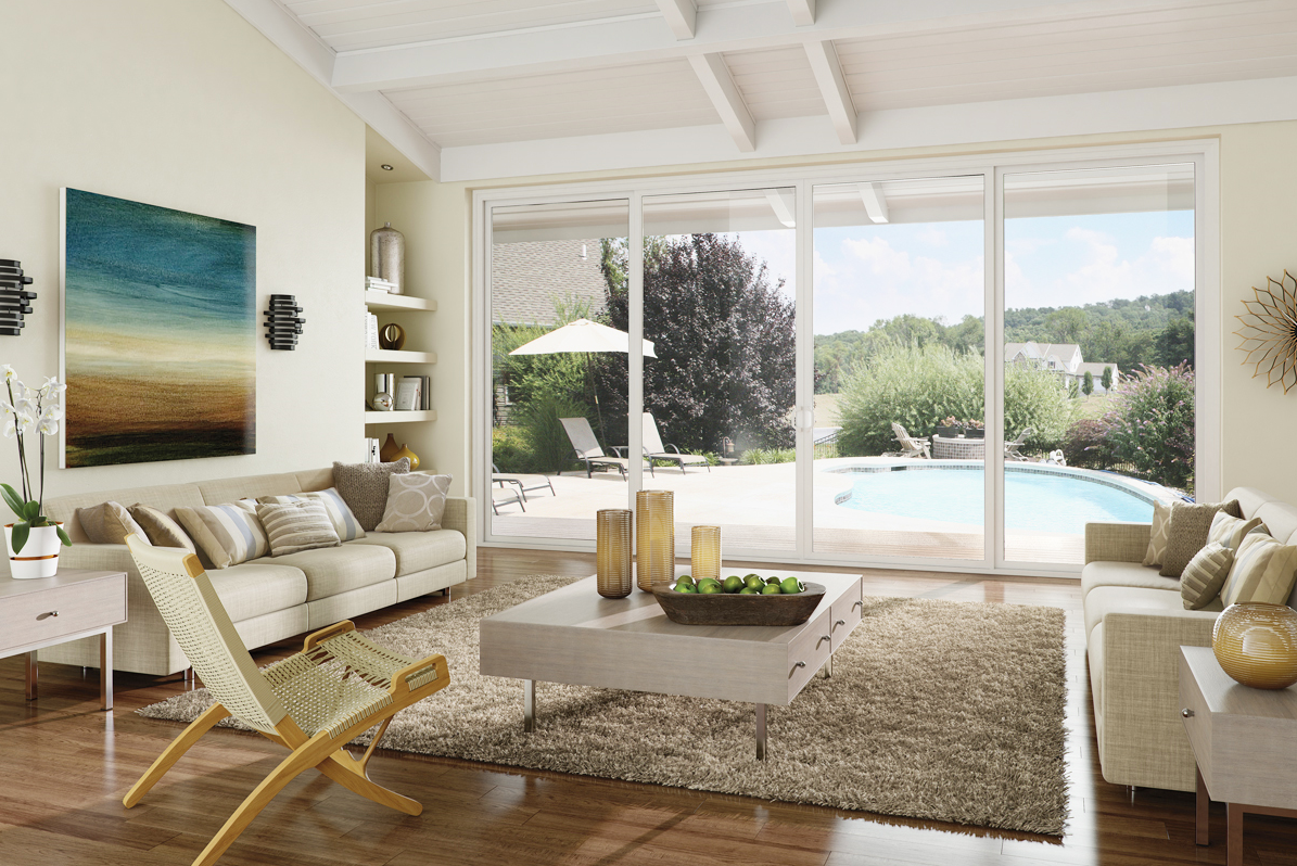 Milgard vinyl sliding patio door