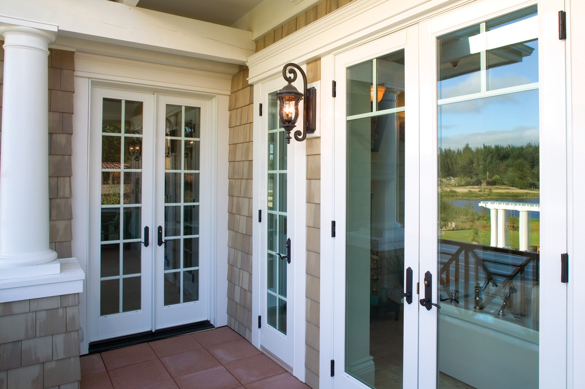 Patio doors with divided lights for decorative flair