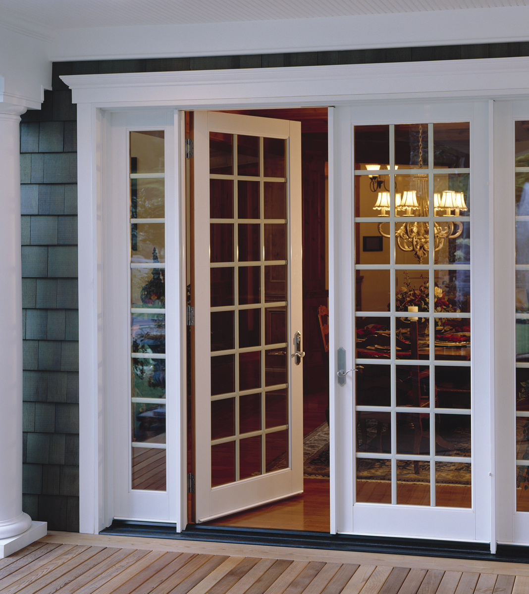 French inswing patio doors with side lights