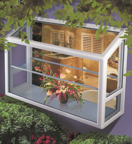 Garden windows are designed to let in light, create a healthy environment for plants, and make even grey, cloudy days seem filled with spring.