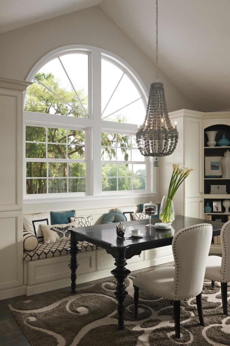 Beautiful Tuscany Series window with fanlights above