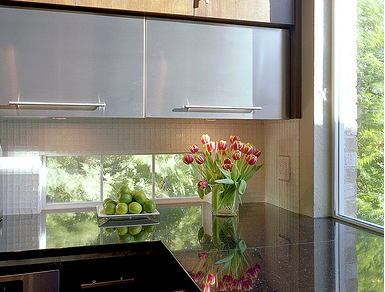 Backsplash Kitchen Window .Instead of replacing your upper kitchen cabinets with windows. Consider adding a window backsplash below the cabinets to let in more natural light. While under counter lighting helps eliminate dark spaces beneath cabinets, natural light during daylight hours is even more beneficial and beautiful.